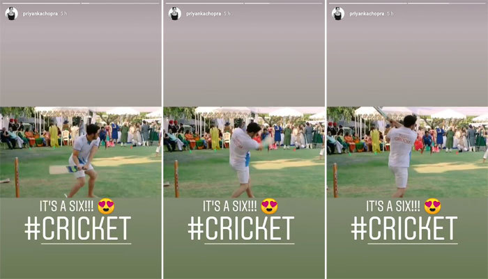 Priyanka Nick Mehendi Cricket