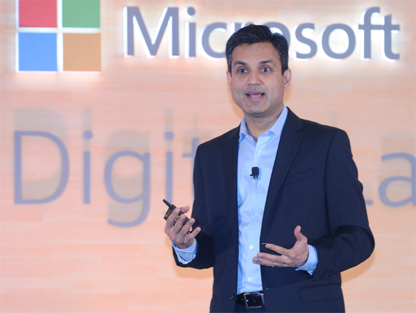 Microsoft was represented by the company's India boss, Anant Maheshwari at the AGM