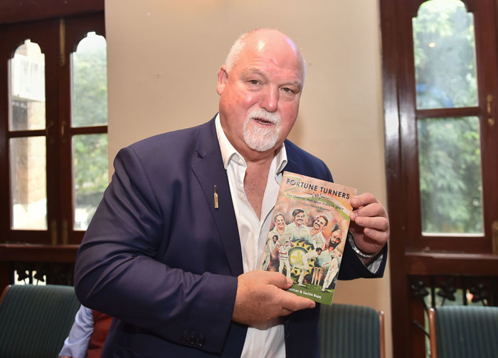 ​Mike Gatting at the launch of book 'Fortune Turners', authored by Aditya Bhushan and Sachin Bajaj.