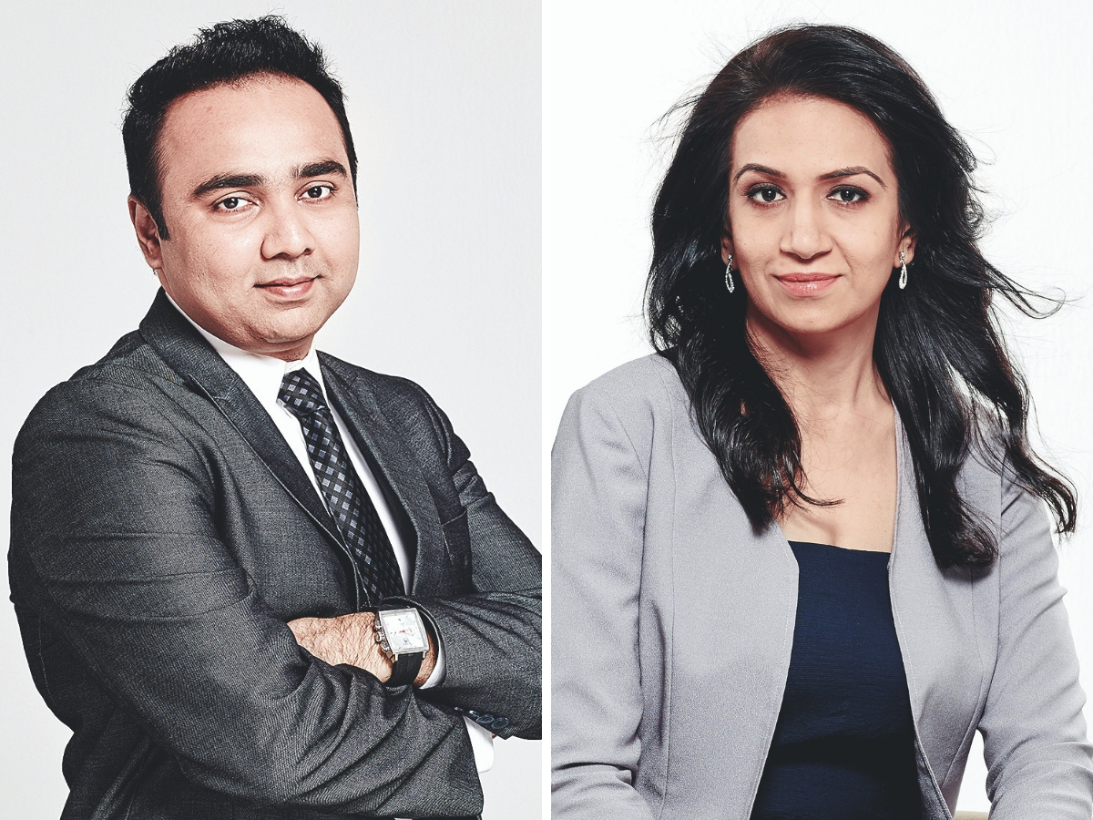 ​Vishal B Malkan (L) coached his wife Meghana​ (R) about the highs and lows of the stock market​.