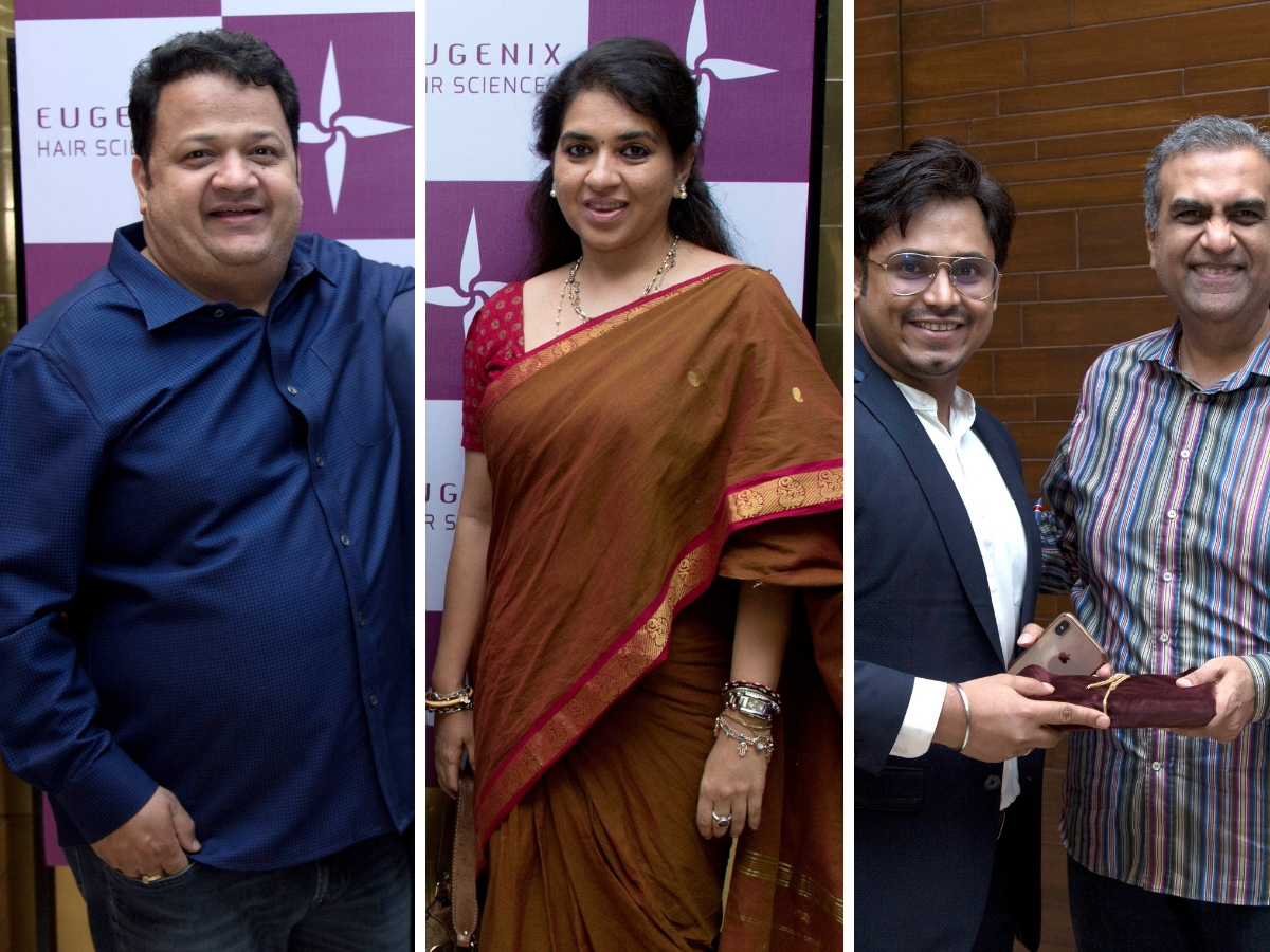 ​(L-R) Salil Chaturvedi, Shaina NC and Dr Soumyakant Das with Manish Chokhani​ were also spotted.