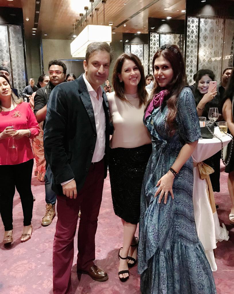 ​Rahul Raichand, Amrita Raichand and Nisha JamVwal​ also posed for the shutterbugs
