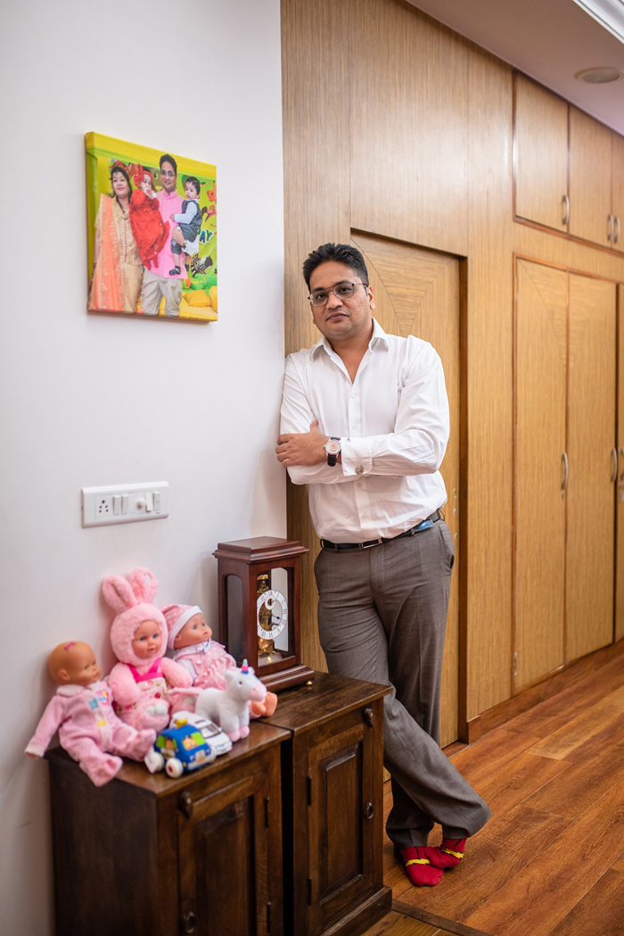 The idea of a kid-friendly room with almost zero furniture was designed by Gaurav Mehta's wife Pratibha.